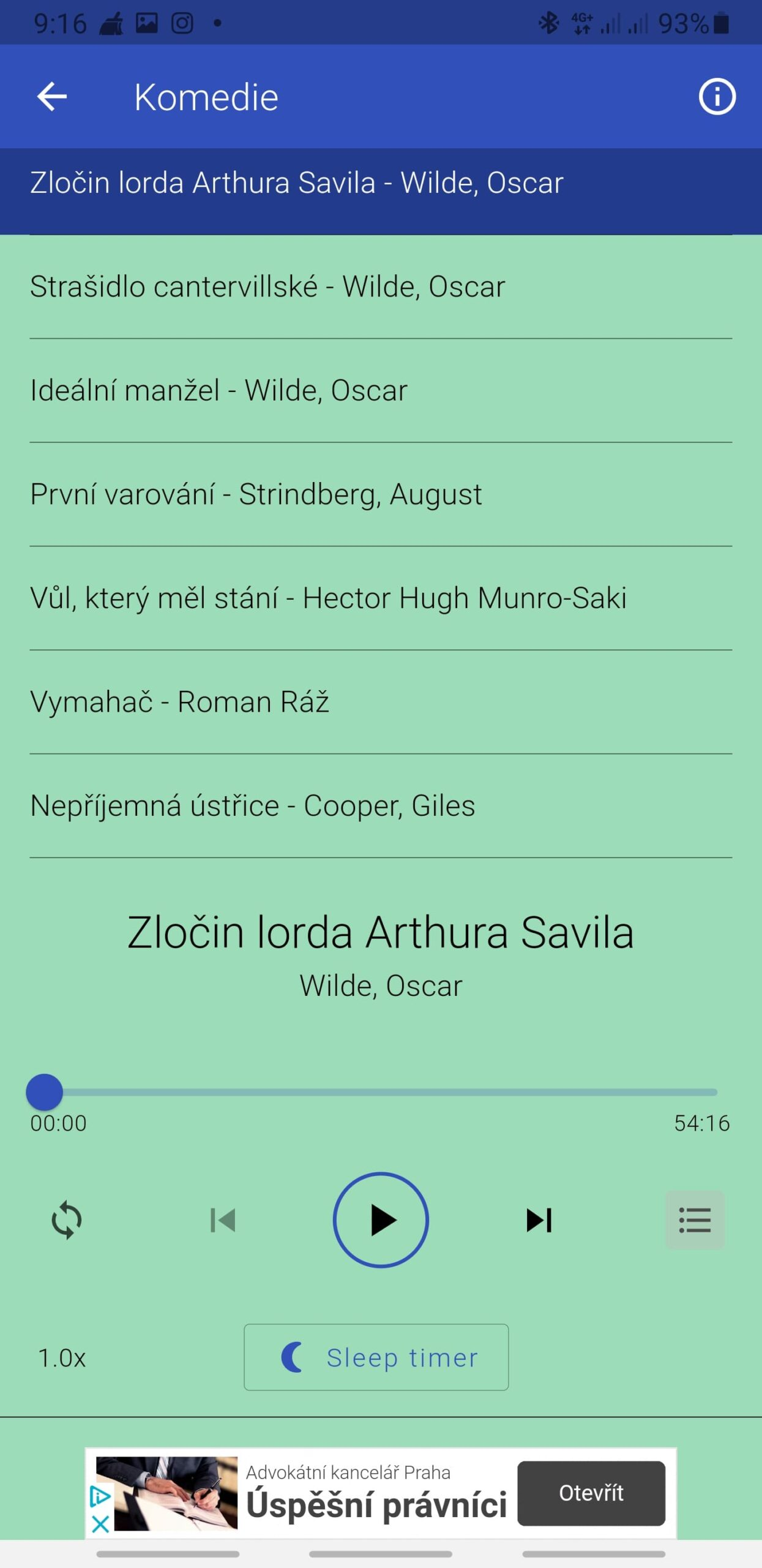 České mluvené slovo a pohádky